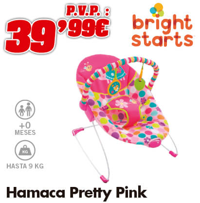 Bright Starts Hamaca pretty pink