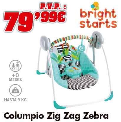 Bright Starts Columpio Zig Zag Zebra