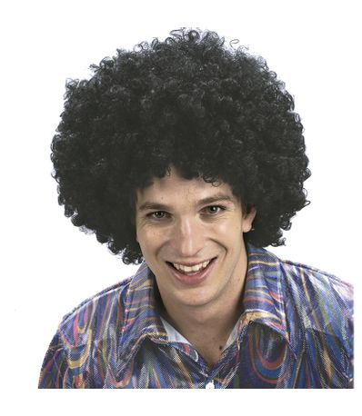Afro-Preto-peruca-Adulto