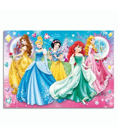 Princesas-Puzzle-Brillos-de-104-Piezas