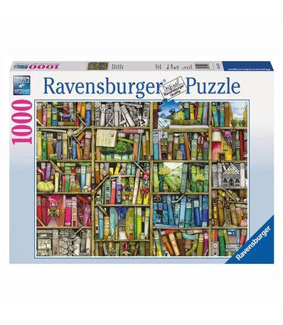 Puzzle-La-Biblioteca-Extraña--de-1000-piezas