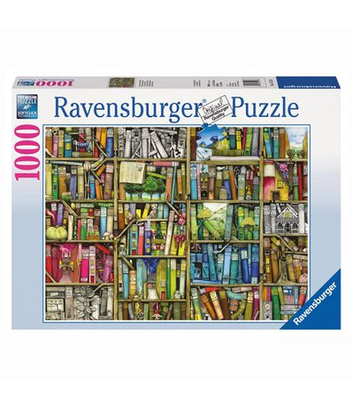 Puzzle-A-Biblioteca-Extranha--de-1000-pecas
