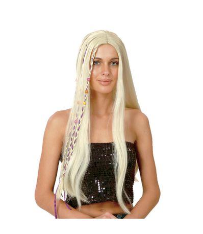 Hippie-peruca-loira-longa