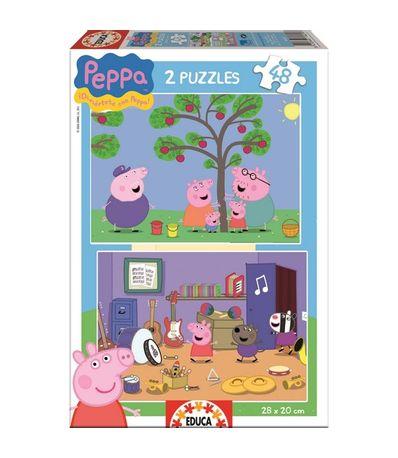 Peppa-Pig-Puzzle-2x48-Piezas