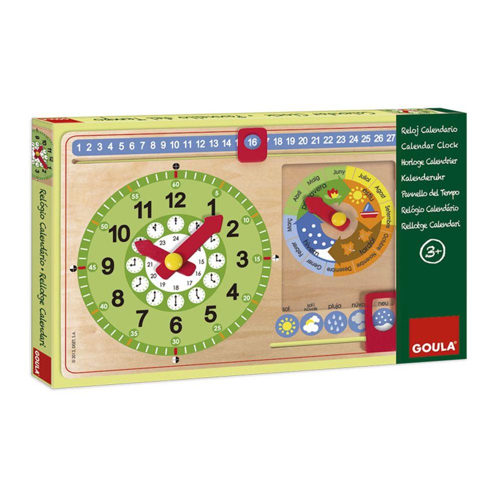Con Calendario Reloj En Catalán Madera De wvNOm8n0