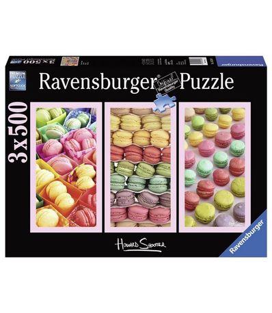 Puzzle-3x500-piezas-Macaron