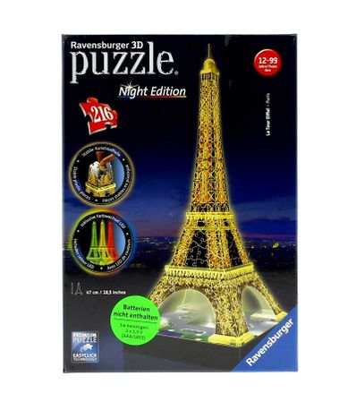 Puzzle-Torre-Eiffel-Night-3D