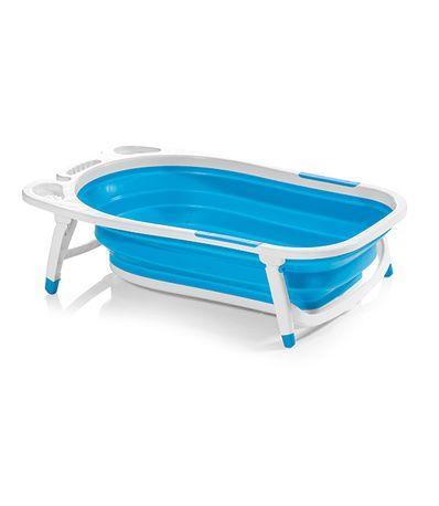 Bañera-de-Silicona-Plegable-Fold-Azul