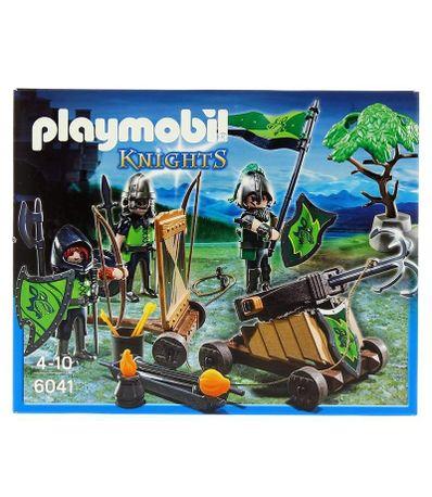 Playmobil-Knights-Caballeros-del-Lobo-con-Catapulta