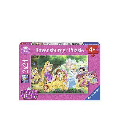 Puzzle-2x-24-piezas-de-los-mejores-amigos-de-las-princesas