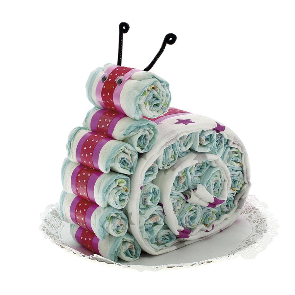 Exclusivo DRIM Tarta de pañales con Forma de Cochecito de la Minnie