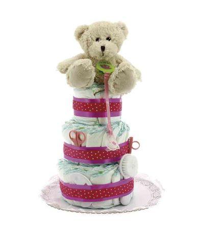 Torta-de-Fraldas-Tres-Pisos-Urso-c--Acessorio-Rosa