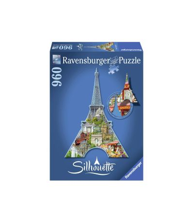 Puzzle-Silhueta-Torre-Eiffel