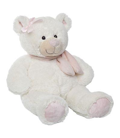 Rosa-urso-de-pelucia-lenco-50-cm