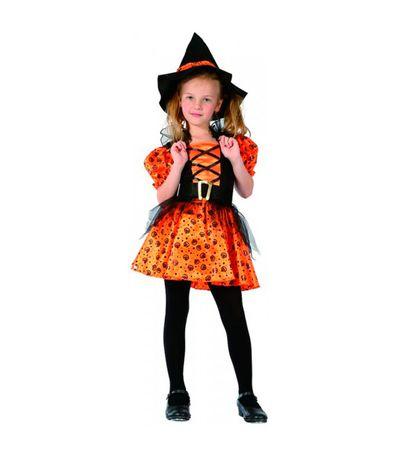 Disfraz-Bruja-Infantil-Color-Naranja