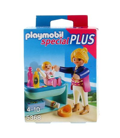 Playmobil-Mama-com-Menino-e-Trocador