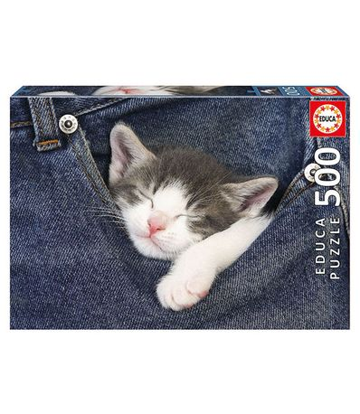 Puzzle-Sleeping-Kitten-de-500-Piezas