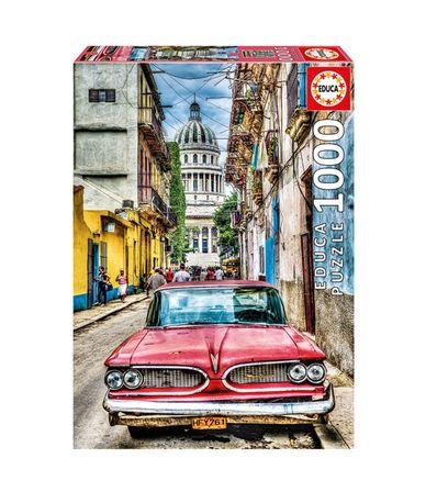 Puzzle--Carro-em-Havana-de-1000-Pecas
