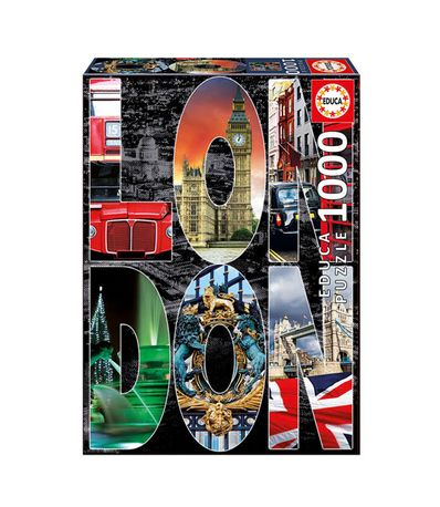 Puzzle-Collage-de-Londres-de-1000-Piezas
