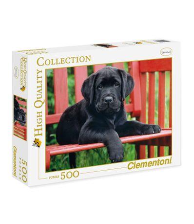 Puzzle-Cachorro-de-Labrador-Negro-de-500-Piezas