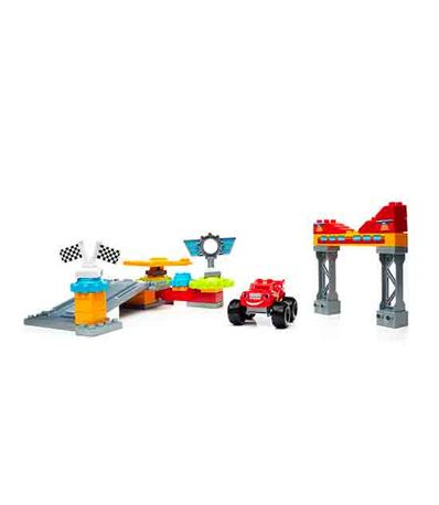 Mega-Blocks-Garaje-de-Axle-City---Blaze---The-Monster-Machines