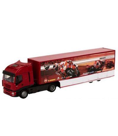Camion-Miniatura-Iveco-Ducati-Moto-GP-Escala-1-43