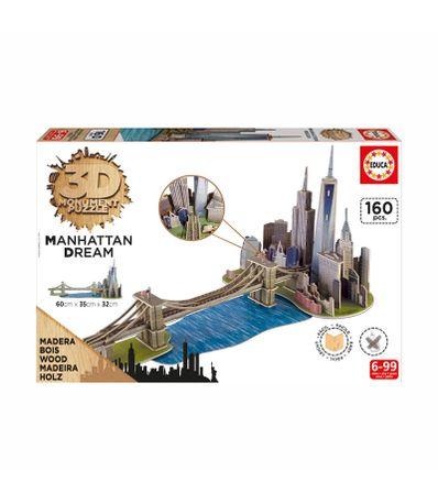 Puzzle-160-Pzs-Monument-3D-Manhattan