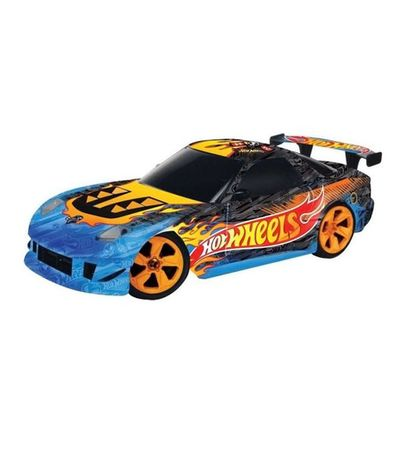 Coche-RC-Hot-Wheels-Azul-Negro-Escala-1-32