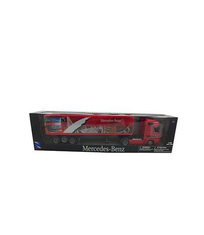 Diminuto-vermelho-Mercedes-caminhao-Escala-1-43