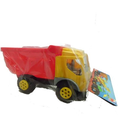 Camion-Volquete-Amarillo-Y-Rojo