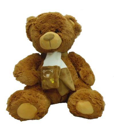 Urso-de-peluche-com-40-centimetros-Scarf-Brown