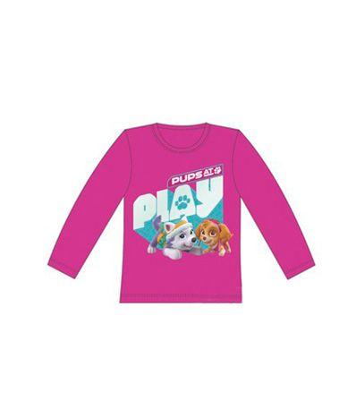 Patrulla-Canina-Girls-Camiseta-Rosa