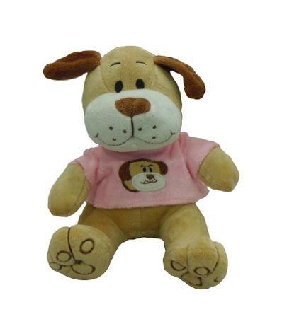 Peluche-Perro-con-Ropa-Rosa-18cm