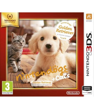 Nintendogs---Gatos--Golden-Retiever---Selects---3DS