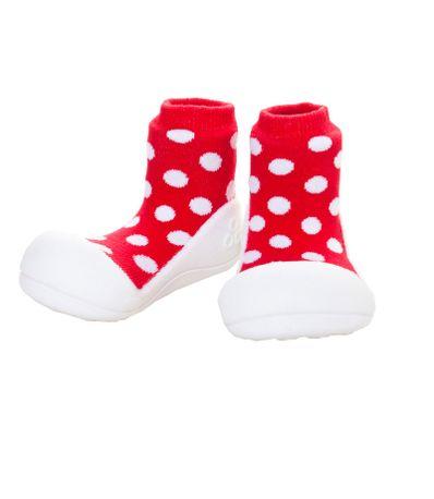 Sapato-Primeiros-Passos-Polka-Dot-Vermelho-T215