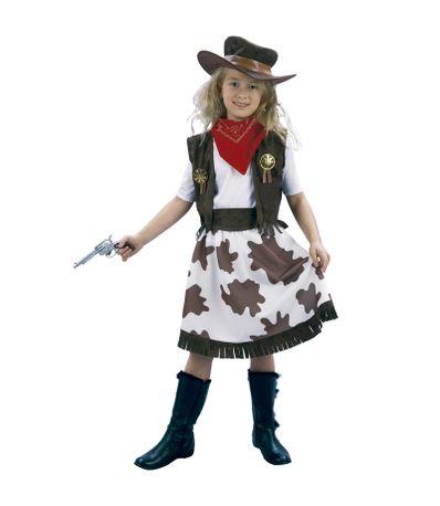Disfraz-de-Vaquera-Infantil