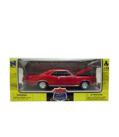 Coche-Miniatura-Dodge-Clasico-Americano-Rojo-Escala-1-24