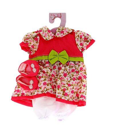 Vestir-roupas-de-menina-40cm-Flores-fucsia