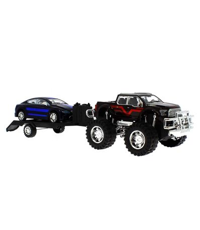 Jeep-brinquedo-com-reboque-e-Black-and-Blue-Car