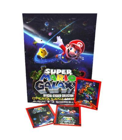 Album-Super-Mario-Galaxy---3-Sobres-De-Pegatinas