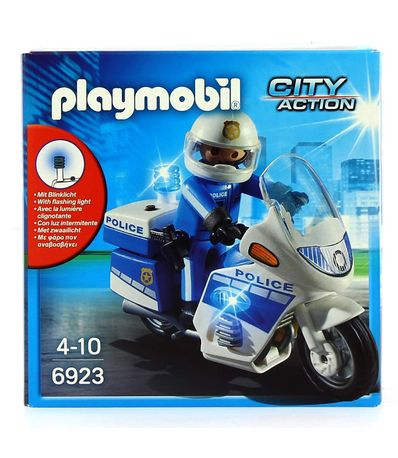 Playmobil-City-Action-Policia-con-Moto-LED
