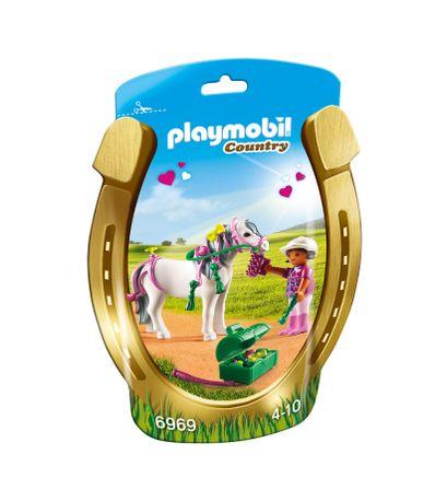 Playmobil-Amazona-con-Poni-y-Corazones