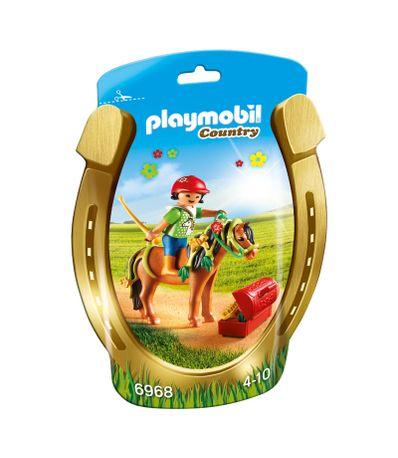 Playmobil-Amazona-con-Poni-y-Flores