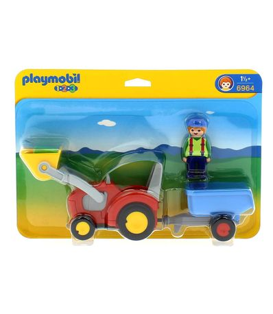 Playmobil-123-Trator-com-Rebolque