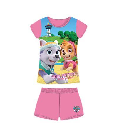 Rosa-Canina-Patrol-Pijamas-menina-Tamanho-2-Anos