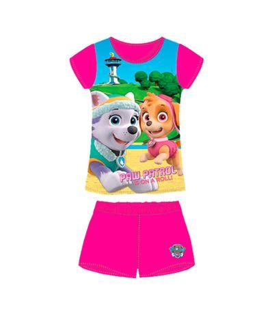 Canine-Patrol-Pijamas-menina-Fuschia-Tamanho-2-Anos