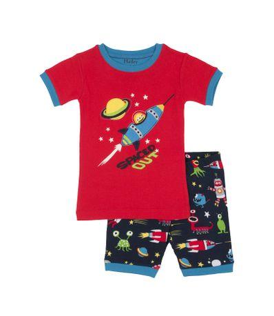 Nene-manga-curta-pijamas-duas-pecas-Tamanho-4