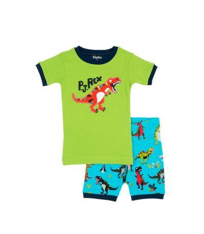 Nene-manga-curta-pijamas-duas-pecas-Tamanho-6