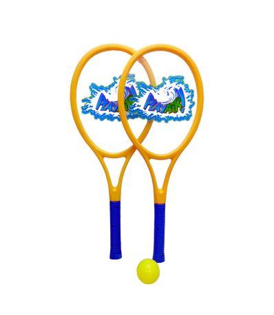Set-2-Raquetes-com-bola-e-Pluma-Amarela