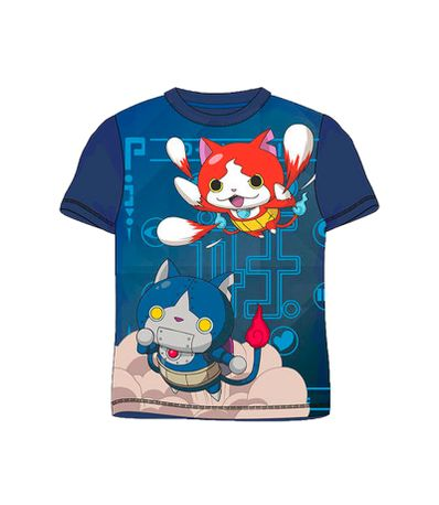 Yo-Kai-Watch-Camiseta-Azul-Marino